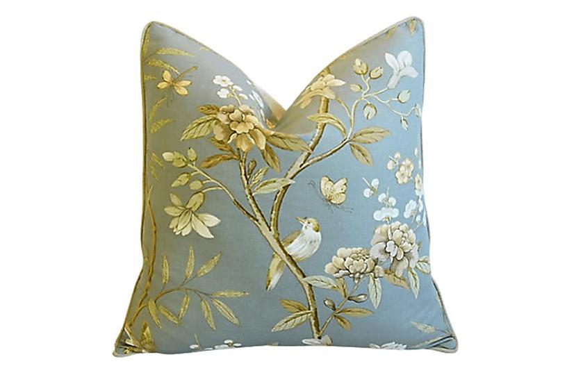 GP & P Baker Peony Blossom & Bird Pillow