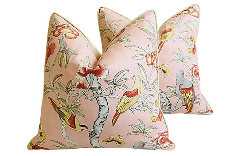 Thibaut Floral/Birds Giselle Pillows, Pr