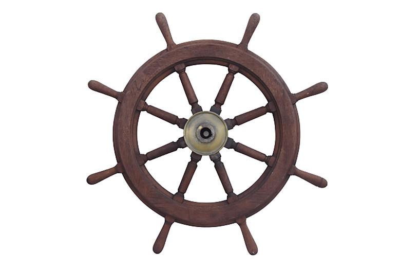 Nautical Maritime Yacht Ship's Wheel