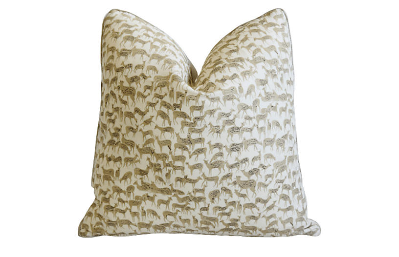 Schumacher Herd Of Deer Fauna Pillow