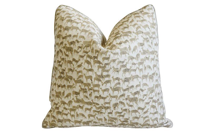 Schumacher Herd Of Deer Fauna Pillow