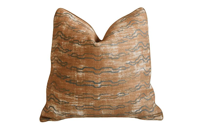 Zak Fox Bengal Tiger Khaden Linen Pillow