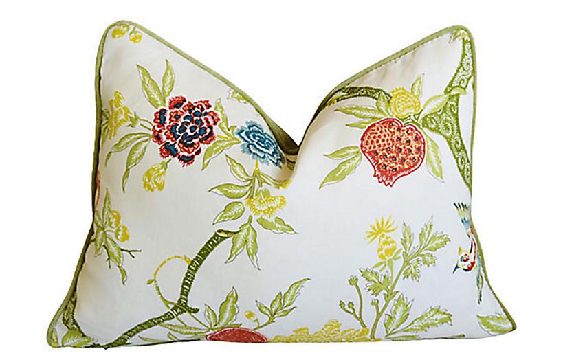 Schumacher Chinoiserie Linen Pillow