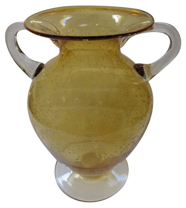 Glass Topaz Urn