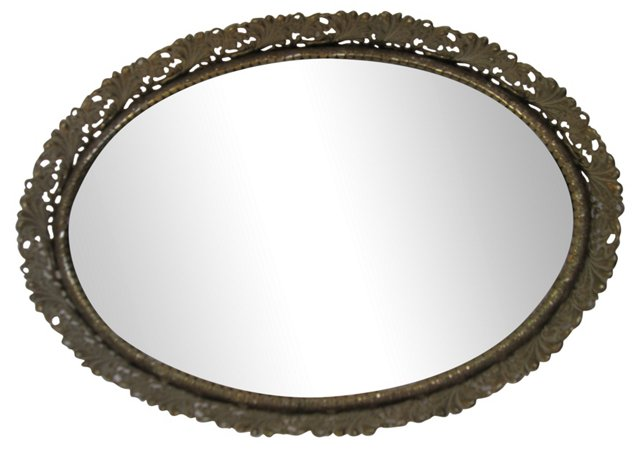Mirrored Vanity Filigree Tray