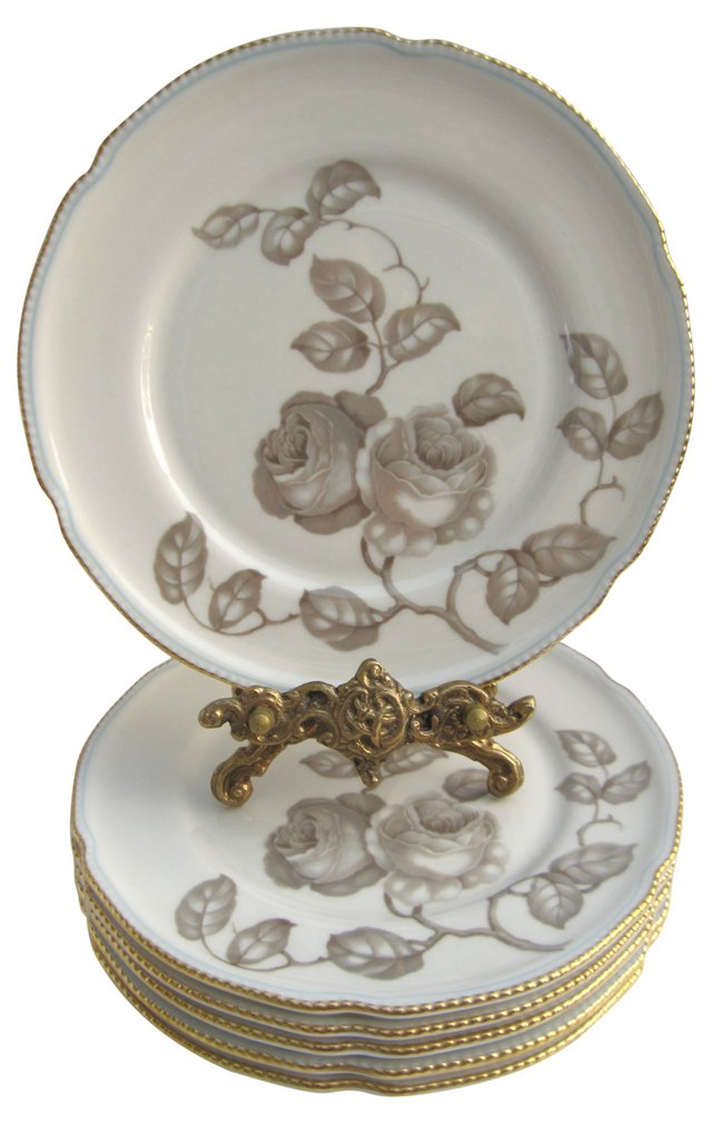 Castleton China Dessert Plates, S/8