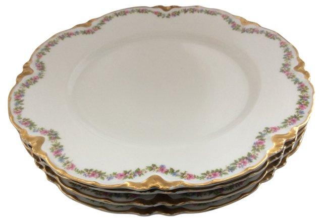 Limoges Salad Plates, S/4