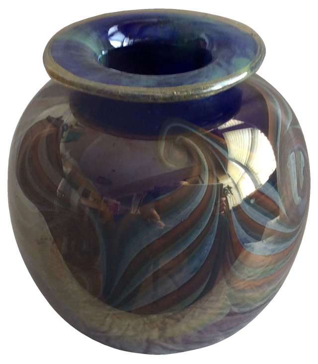 Cobalt Art Glass Vase