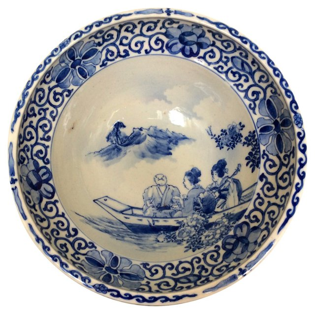 Chinoiserie Footed Bowl
