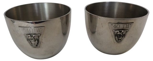 Pewter Jefferson Cups, Pair