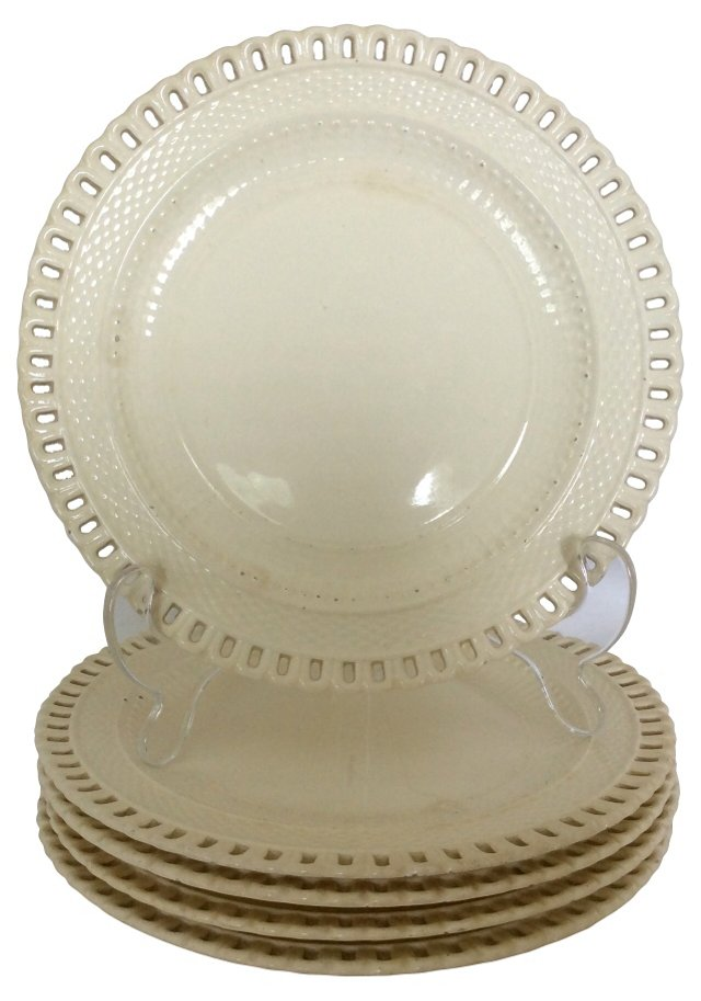 Reticulated Dessert Plates, S/5