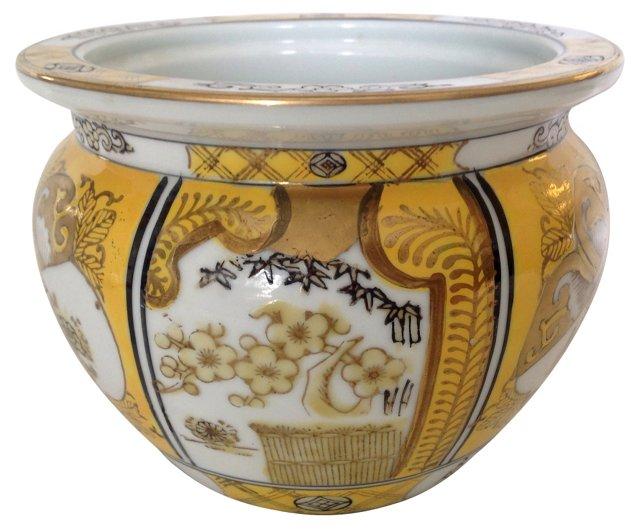 Hand-Painted Gold Imari Planter