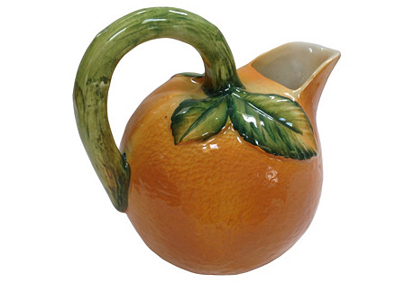 Italian Orange Mold Pitcher