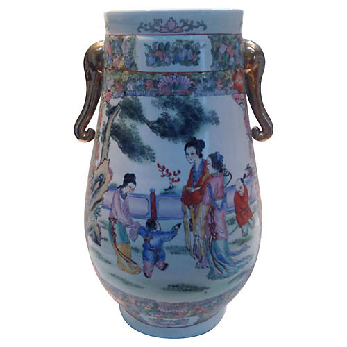 Large Porcelain Umbrella Stand