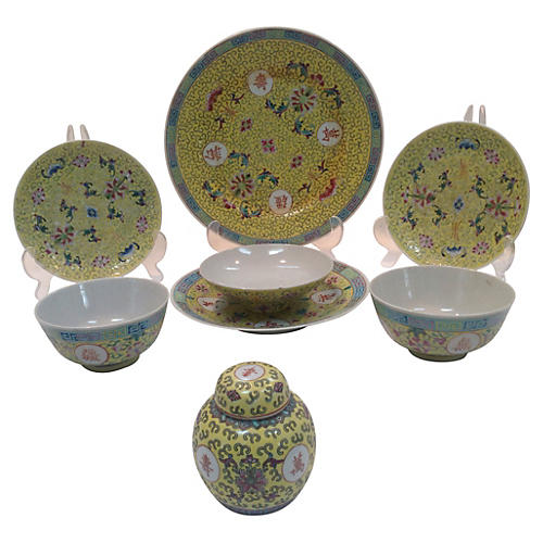 8-Pc Chinese Porcelain Place Setting