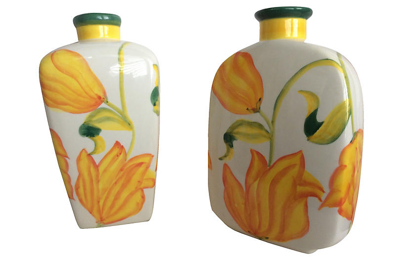 Hand Painted Vases S2 Auctiondogs505 Brands One Kings Lane