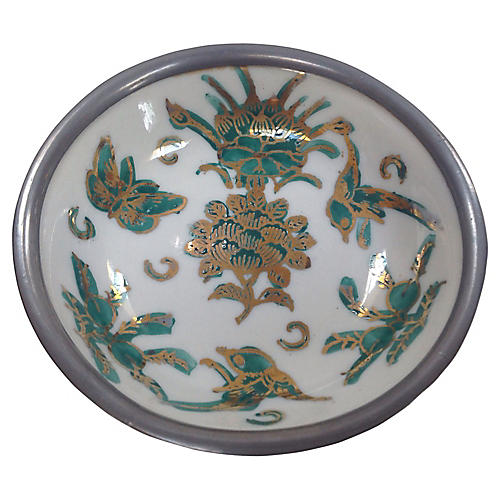 Chinoiserie Pewter Bowl