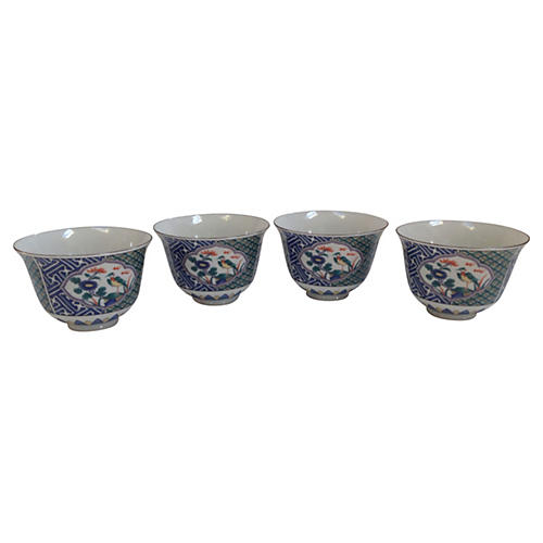 Colorful Chinoiserie Bowls, S/4
