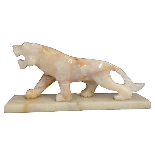 Alabaster Prowling Lion