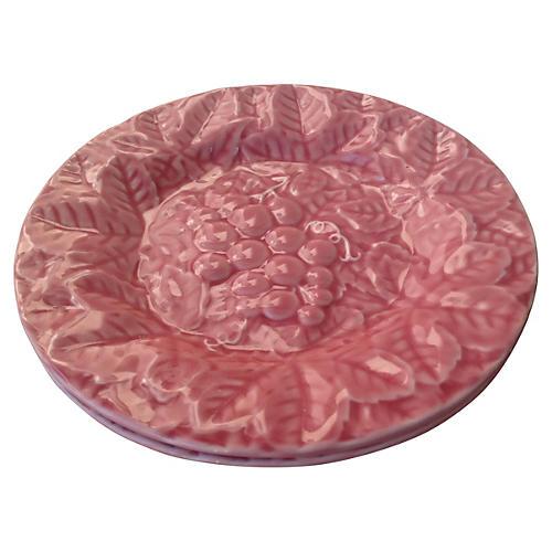 Majolica Grapes Plates, S/2