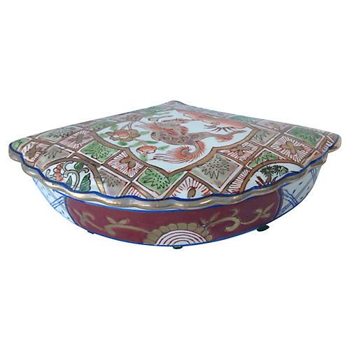 Porcelain Fan-Shaped Box