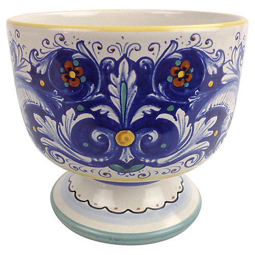 Italian Deruta Pedastal Bowl