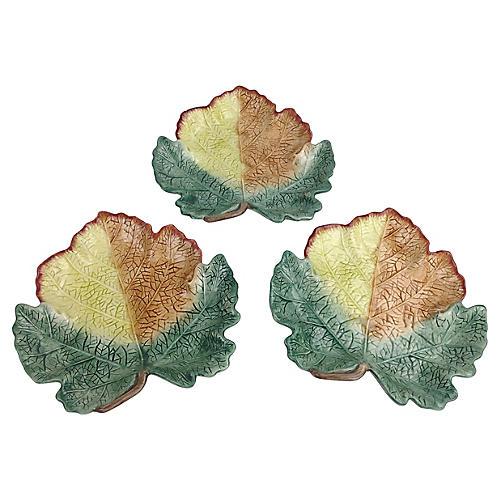Fitz & Floyd Maple Leaf Plates, S/3