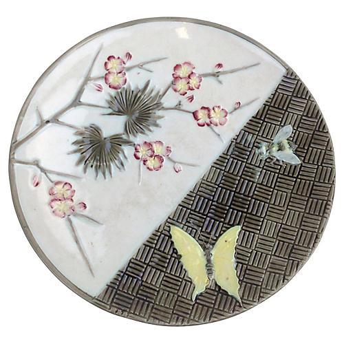 Majolica Floral Plate