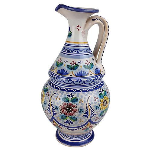 Floral Handled Vase