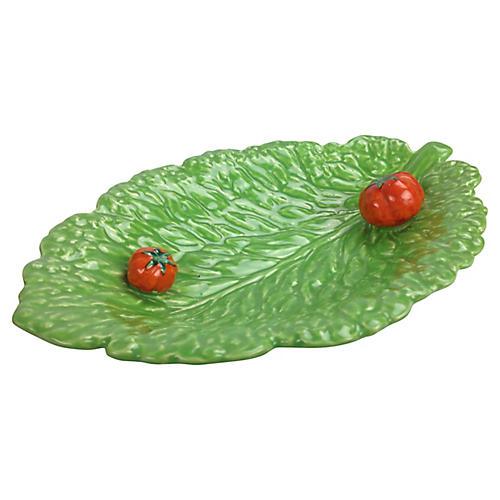 Sarreguemines Tomato Leaf Bowl
