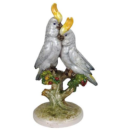 Italian Lovebirds Figurine