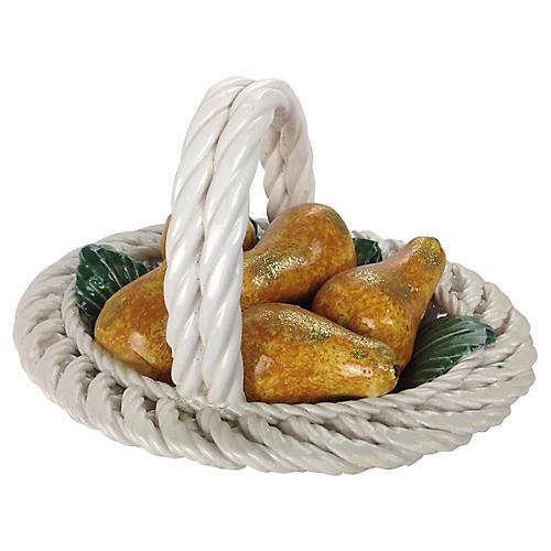 Italian Pear Basket