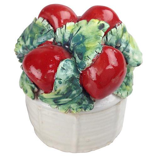 Italian Apple Lidded Catchall