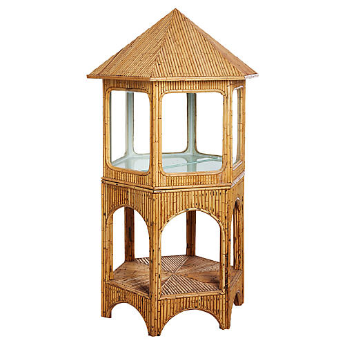 Pagoda-Shaped Bamboo Display Cabinet
