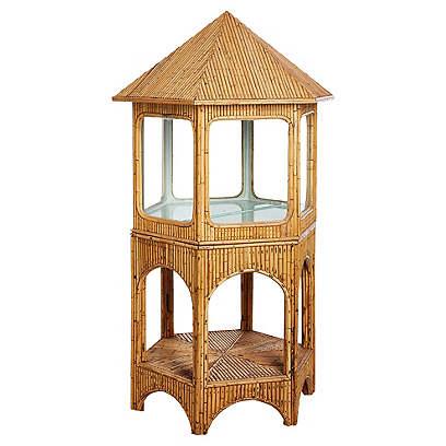 Pagoda-Shaped Bamboo Display Cabinet