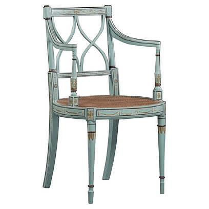 Handpainted Sheraton Style Armchair