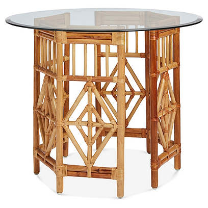 Pair of Rattan Consoles or Center Table