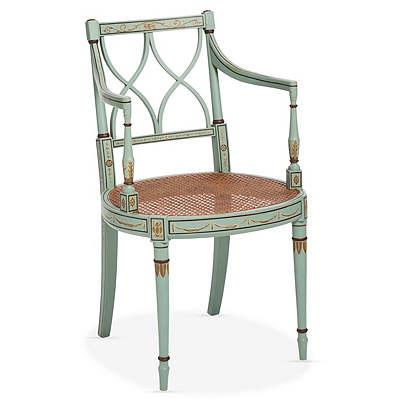 Sheraton Style Polychrome Armchair
