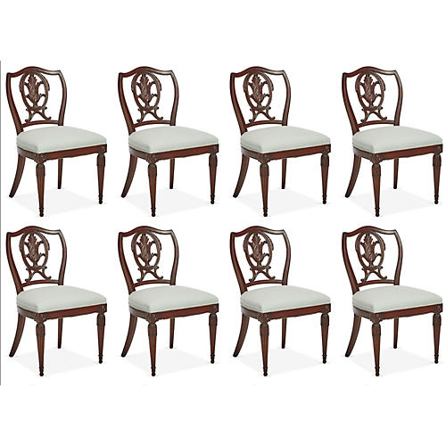 1940s Italian Dining Chairs, S/8