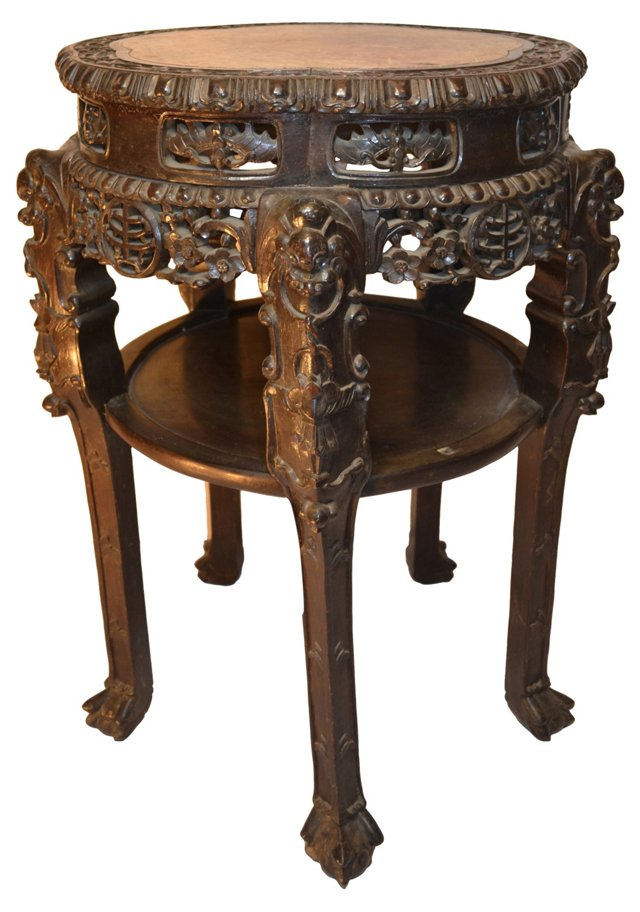 Chinese Handcrafted Marble Table