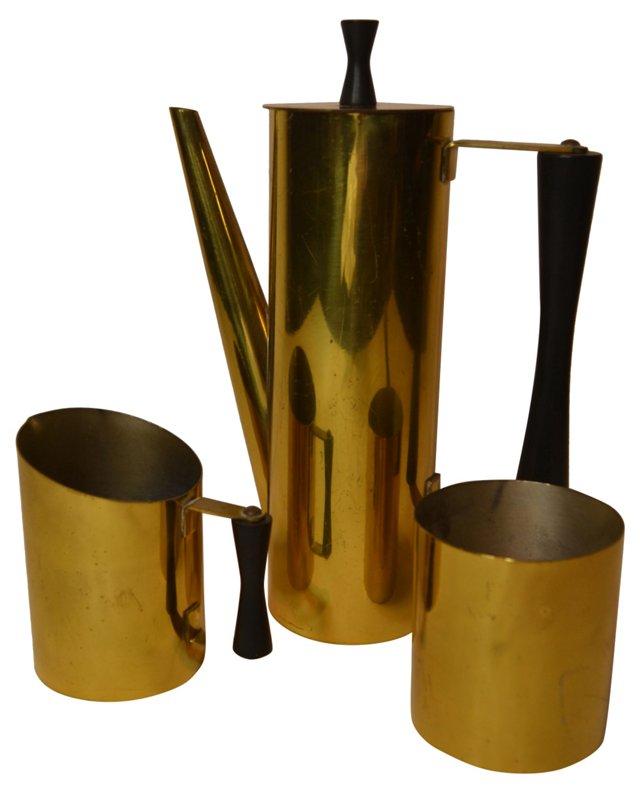 Brass Coffee Set, 3 Pcs