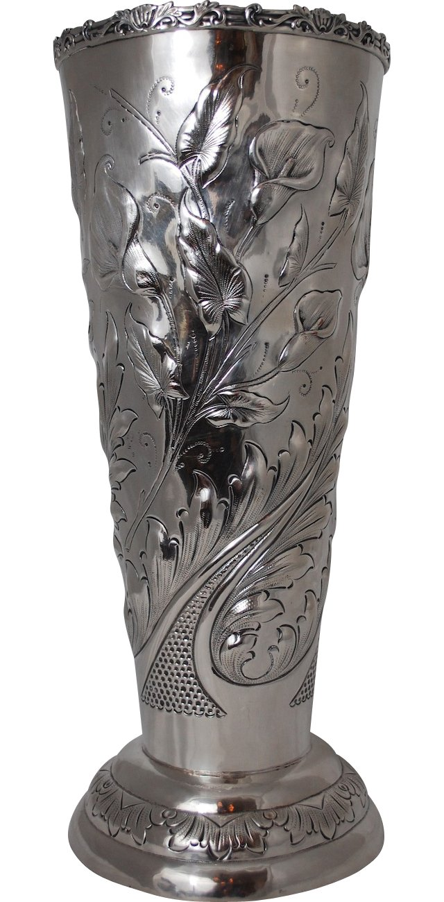 Silverplate Vine Vase