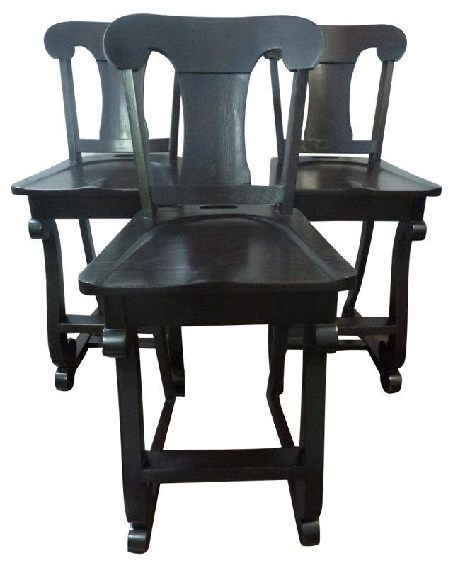 Custom Barstools, Set of 3