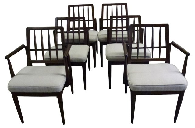 Midcentury Chairs, S/6
