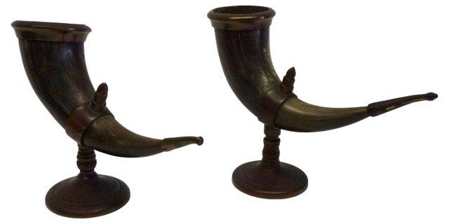 Horns w/ Brass, Pair