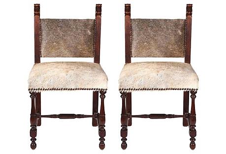 1930s Spanish Chairs, Pair