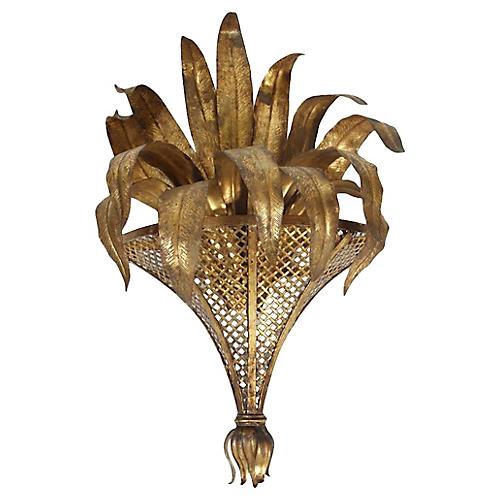 Gold Basket Sconce