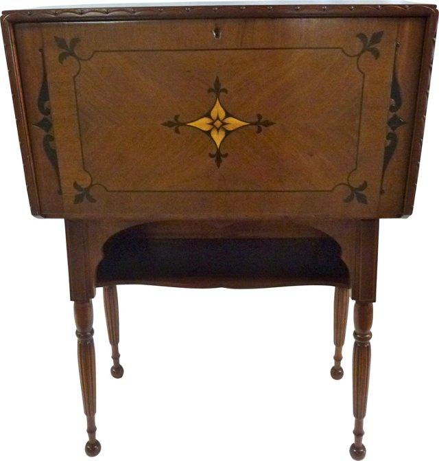1940s Drop-Front Desk w/ Inlay