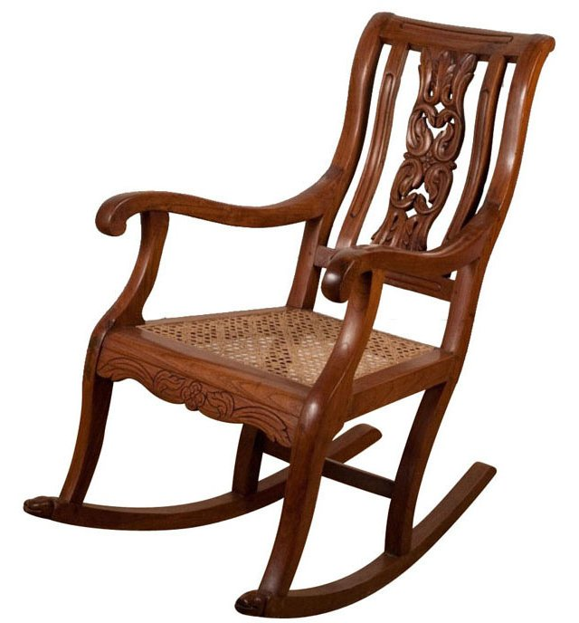 Indo-Portuguese Rocking Chair