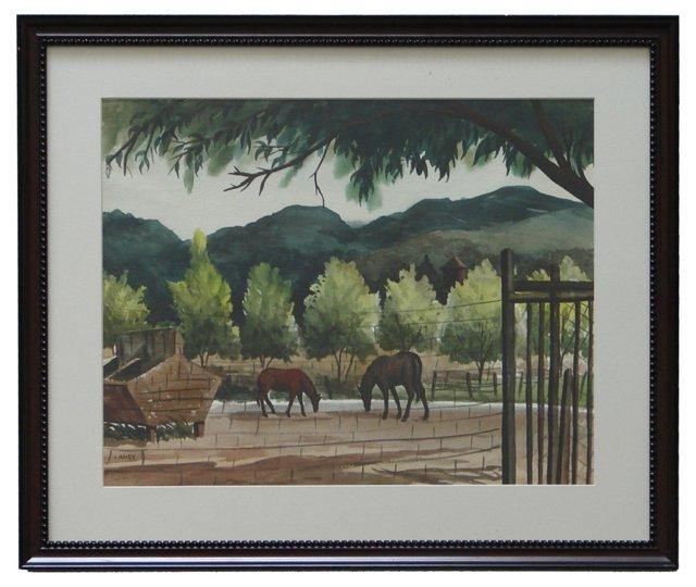 Horse Corral by Art Landy